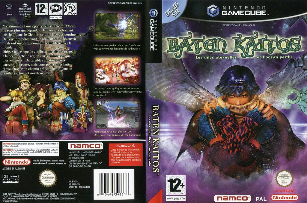 Baten Kaitos:Les Ailes éternelles et l'Océan perdu Wii coverfullHQ (GKBPAF)