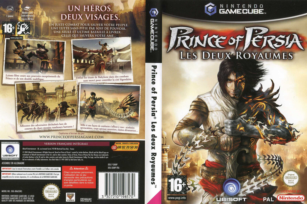 Prince of Persia:Les Deux Royaumes Wii coverfullHQ (GKMP41)
