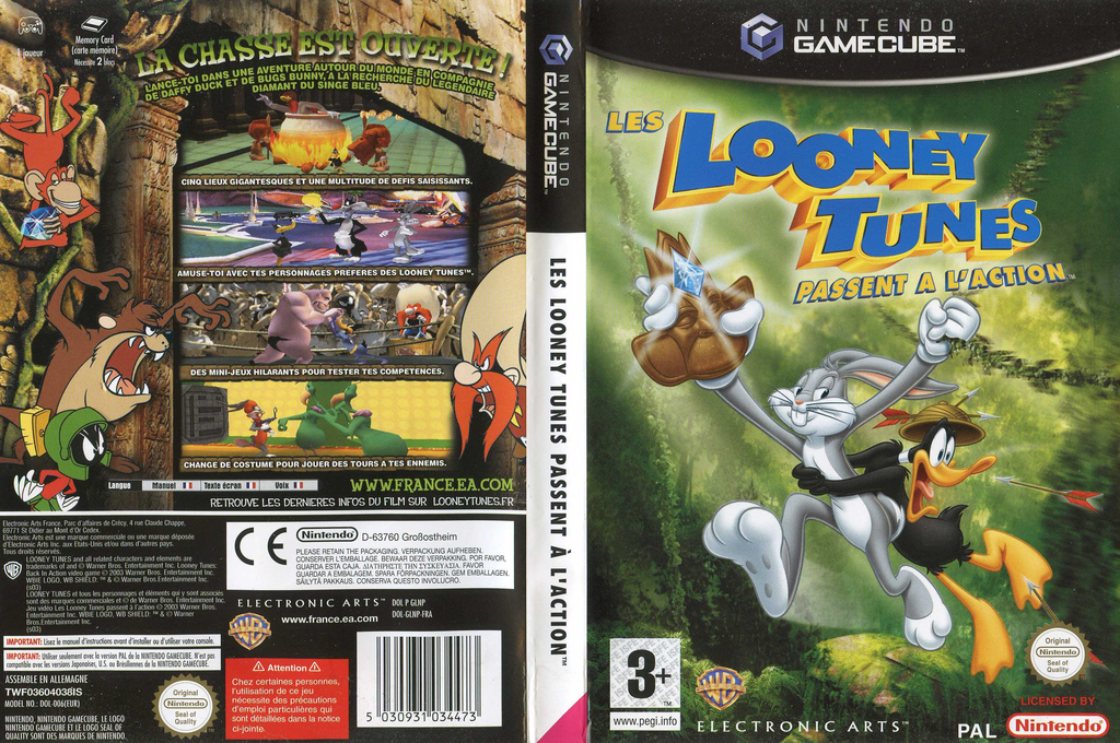 Les Looney Tunes Passent à l'Action Wii coverfullHQ (GLNP69)