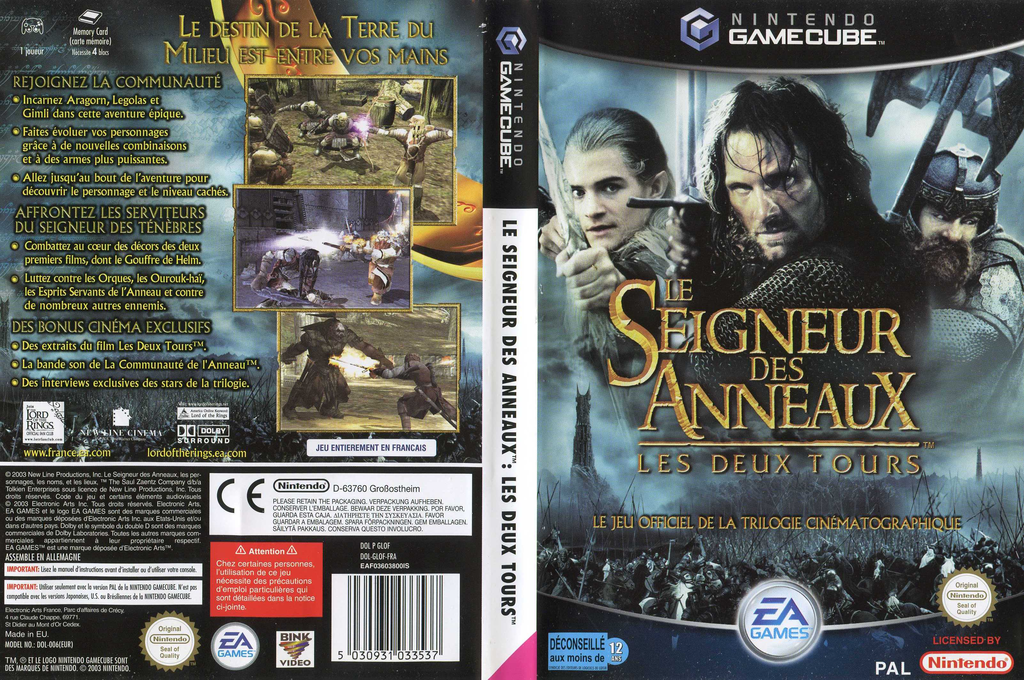 Le Seigneur des Anneaux:Les Deux Tours Wii coverfullHQ (GLOF69)