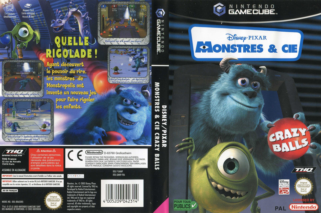 Monstres & Cie:Crazy Balls Wii coverfullHQ (GMNP78)