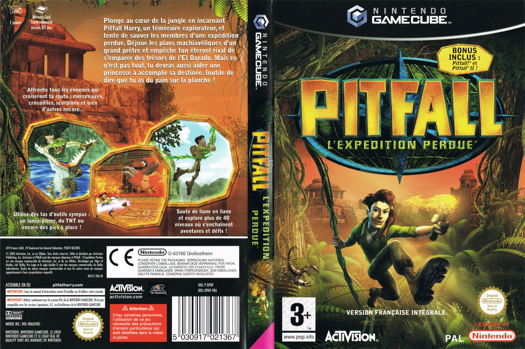 Pitfall: L'Expédition Perdue Wii coverfullHQ (GPHF52)