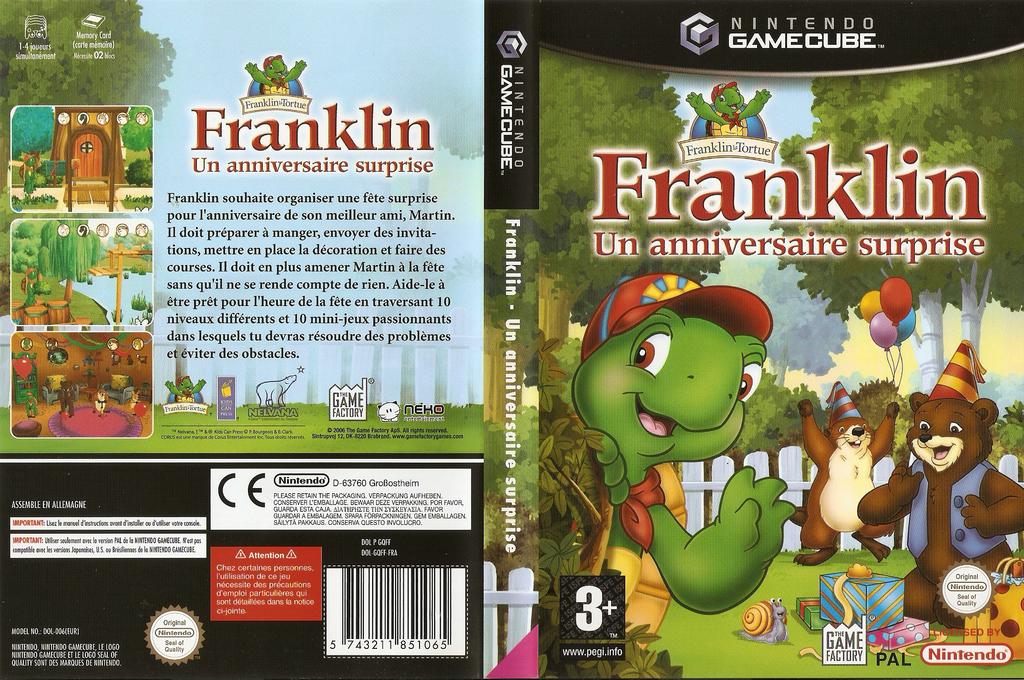 Franklin: Un anniversaire surprise Wii coverfullHQ (GQFFFK)