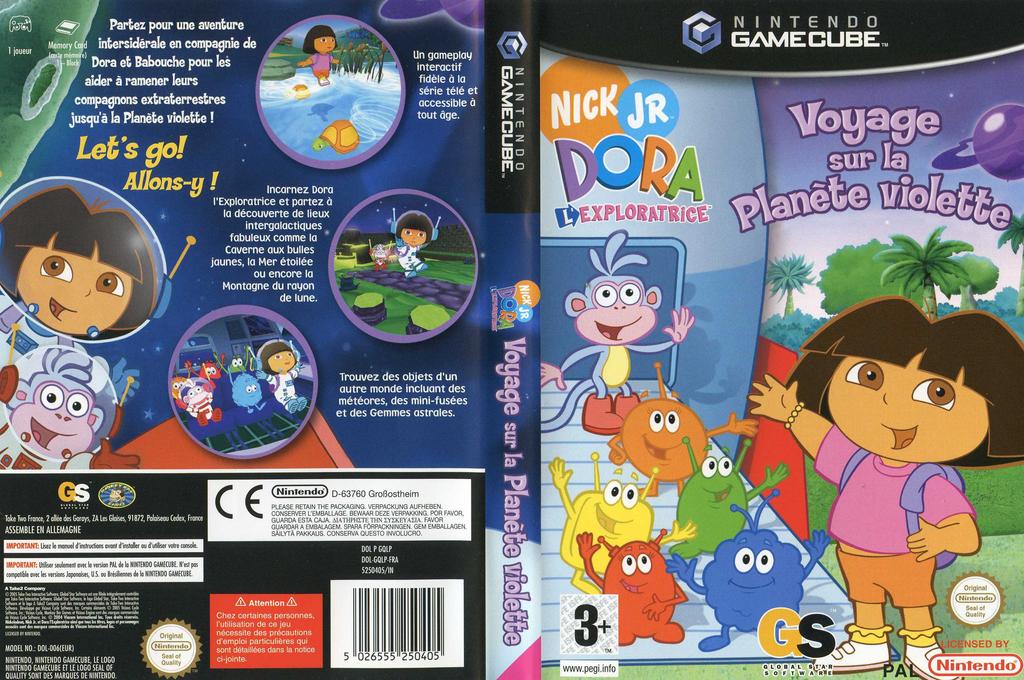 Dora l'Exploratrice: Voyage sur la Planète Violette Wii coverfullHQ (GQLP54)