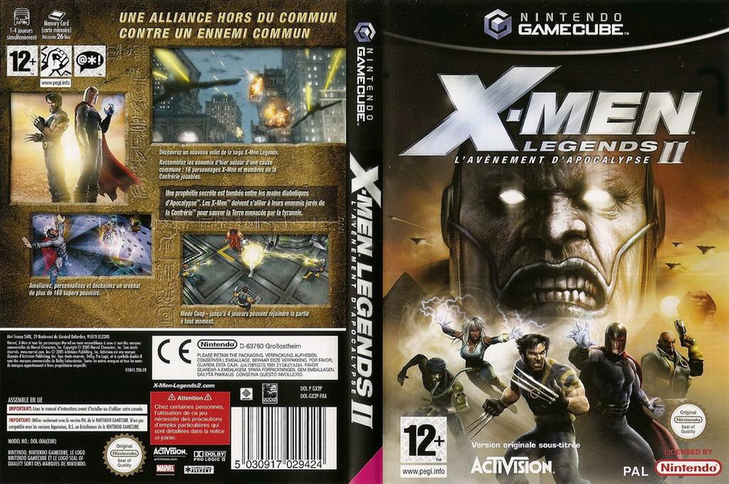X-Men Legends II:L'Avenement d'Apocalypse Wii coverfullHQ (GX2P52)
