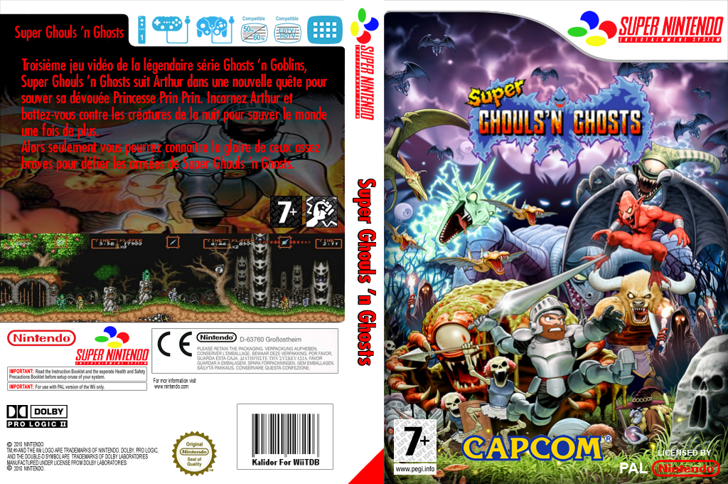 Super Ghouls'n Ghosts Wii coverfullHQ (JA4P)