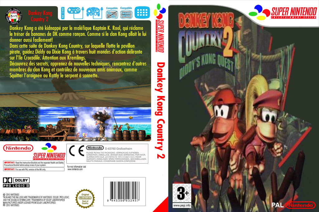 Donkey Kong Country 2 : Diddy's Kong-Quest Wii coverfullHQ (JBDP)