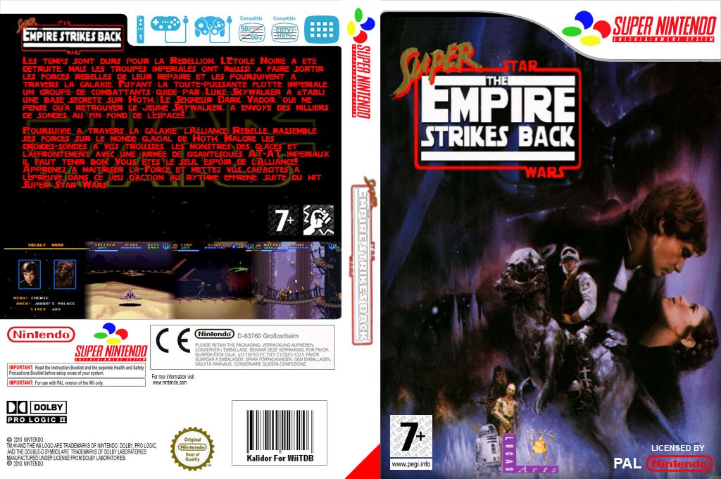 Super Star Wars : The Empire Strikes Back Wii coverfullHQ (JDJP)
