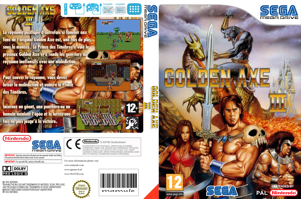 Golden Axe III Wii coverfullHQ (MBOP)