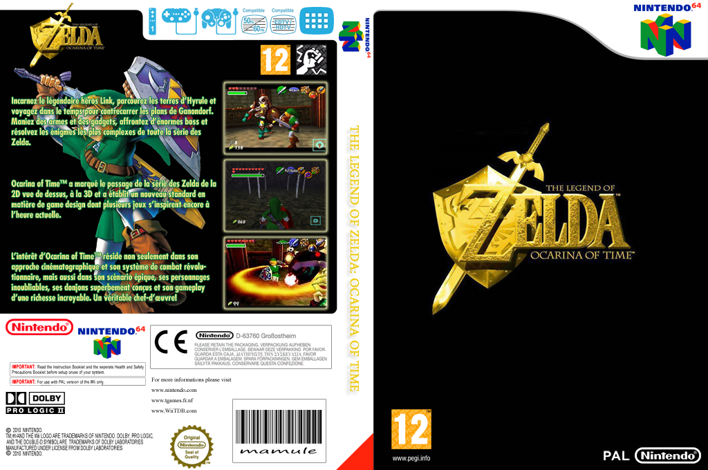 The Legend of Zelda : Ocarina of Time Wii coverfullHQ (NACP)