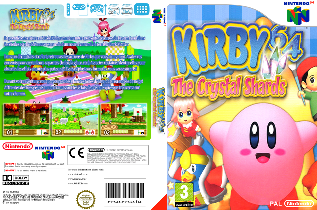 Kirby 64 : The Crystal Shards Wii coverfullHQ (NAMP)
