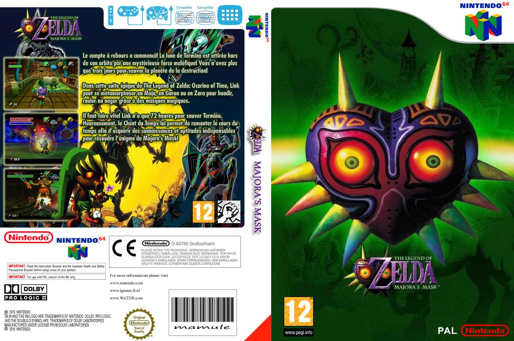 The Legend of Zelda:Majora's Mask Wii coverfullHQ (NARP)