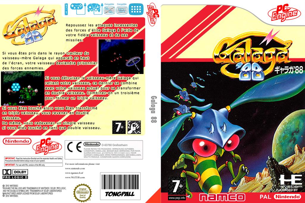 Galaga'88 Wii coverfullHQ (PAWP)