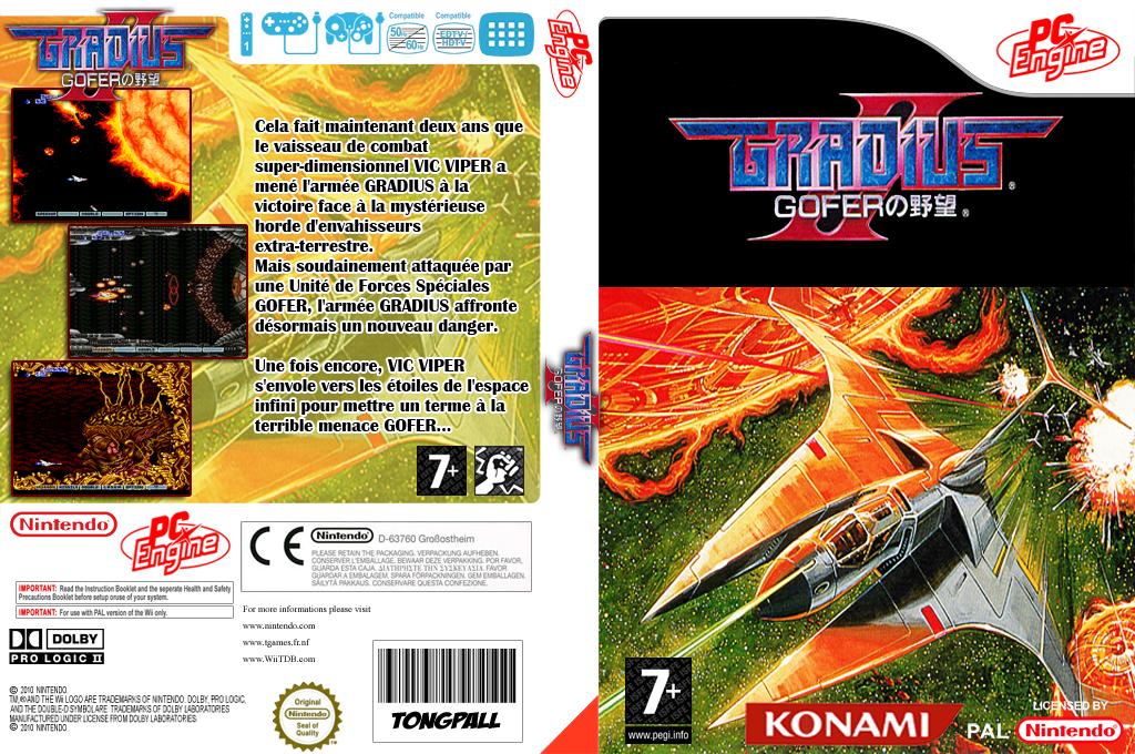 Gradius II:Gofer no Yabou Wii coverfullHQ (QADL)