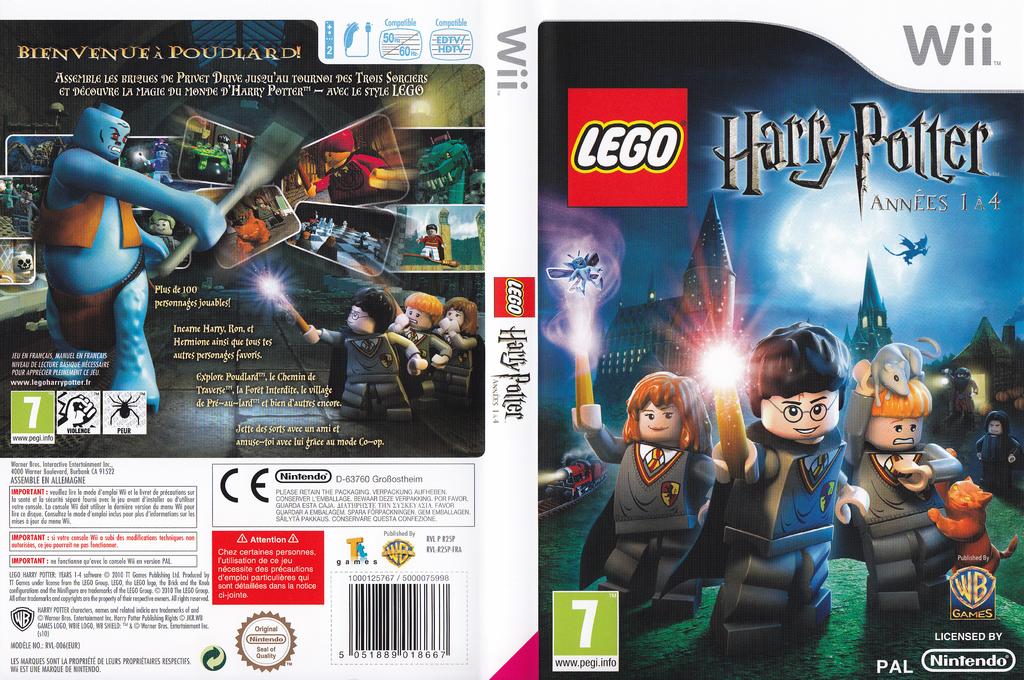 LEGO Harry Potter : Années 1 à 4 Wii coverfullHQ (R25PWR)