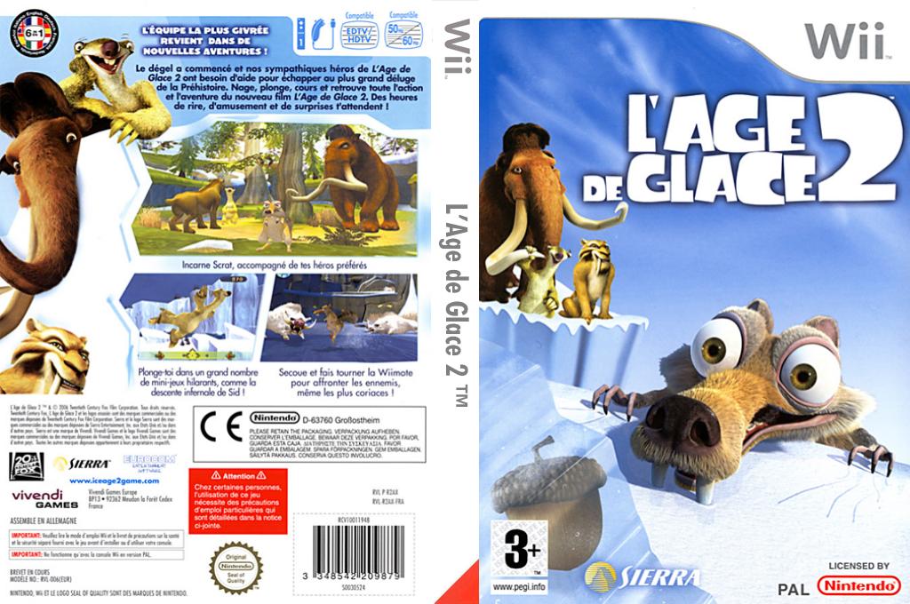 L'Age de Glace 2 Wii coverfullHQ (R2AP7D)