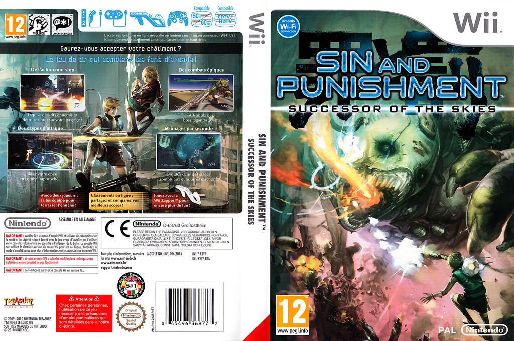 Sin and Punishment : Successor of the Skies Wii coverfullHQ (R2VP01)
