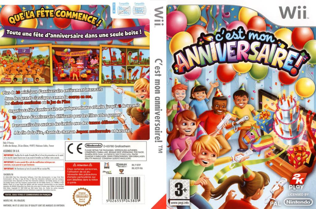 C'est mon anniversaire! Wii coverfullHQ (R2YP54)