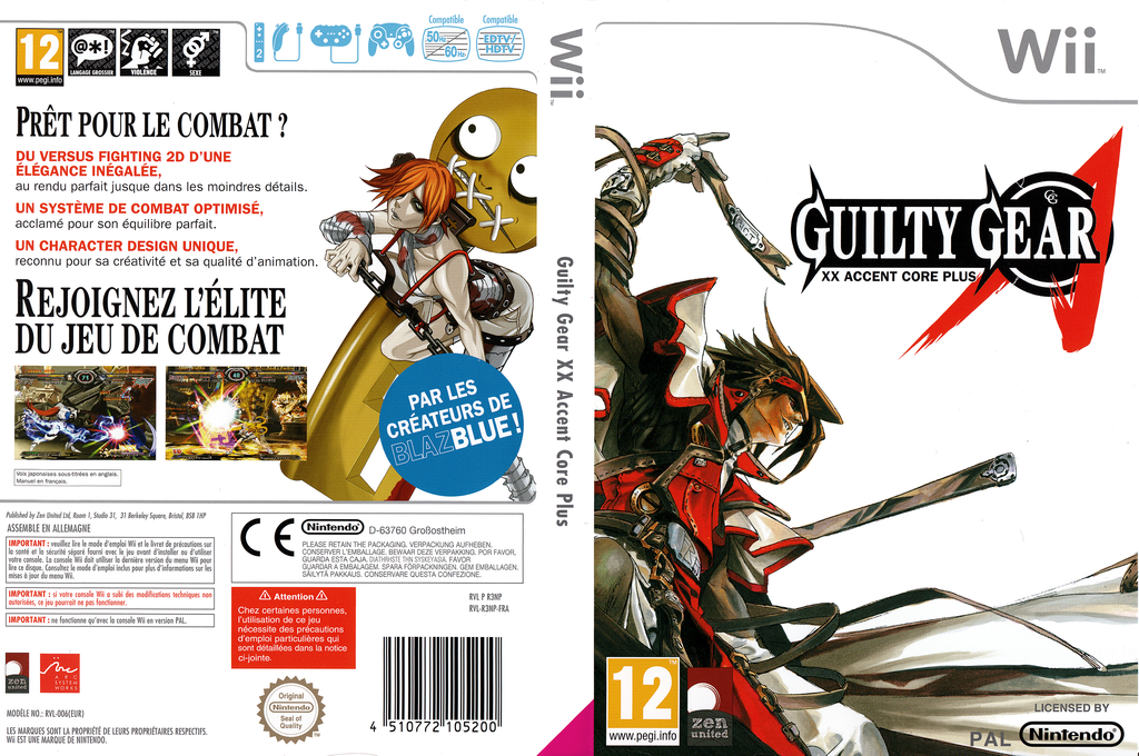 Guilty Gear XX Accent Core Plus Wii coverfullHQ (R3NPH3)