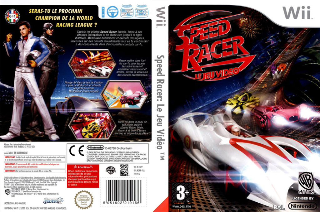 Speed Racer : Le Jeu Vidéo Wii coverfullHQ (R3PPWR)