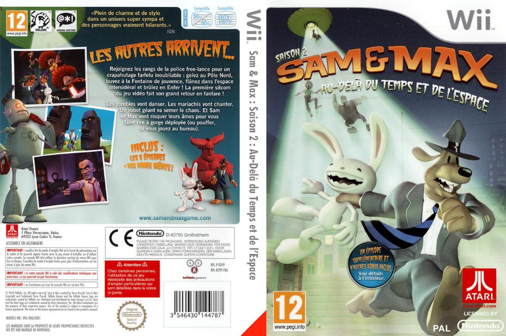 Sam & Max:Saison 2:Au-Delà du Temps et de l'Espace Wii coverfullHQ (R3YP70)