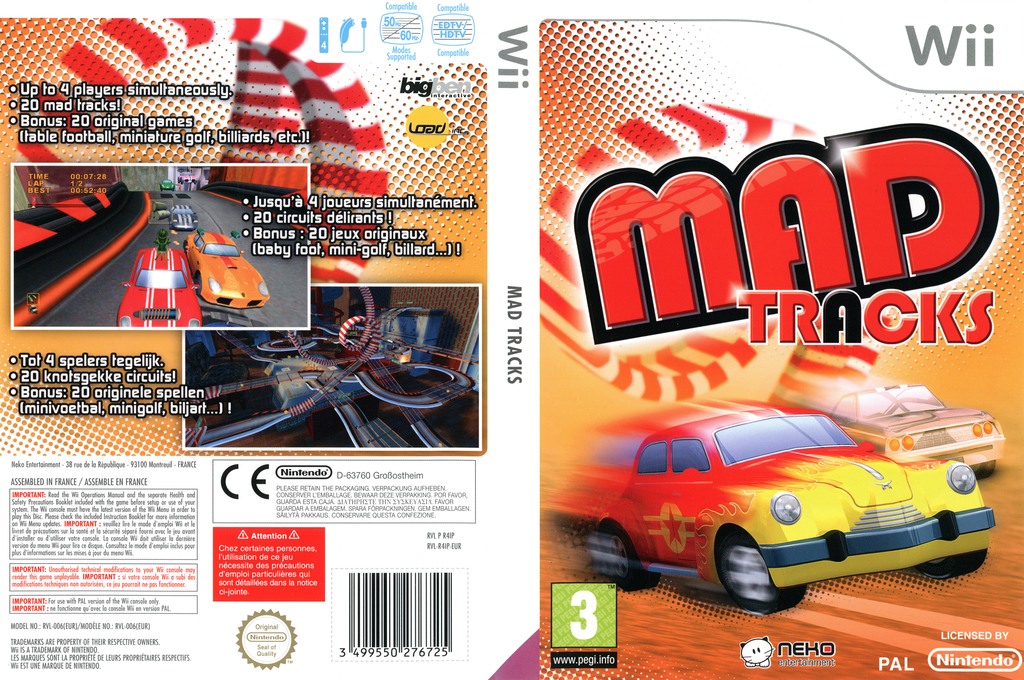 Mad Tracks Wii coverfullHQ (R4IPNK)