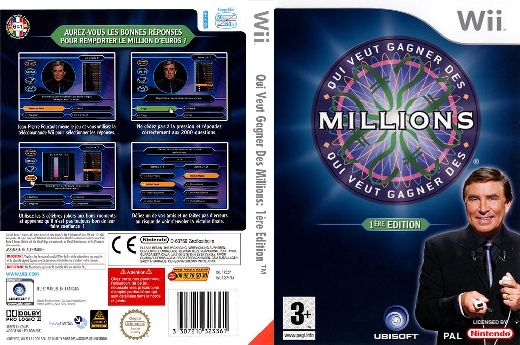 Qui Veut Gagner Des Millions :1ère Edition Wii coverfullHQ (R55P41)