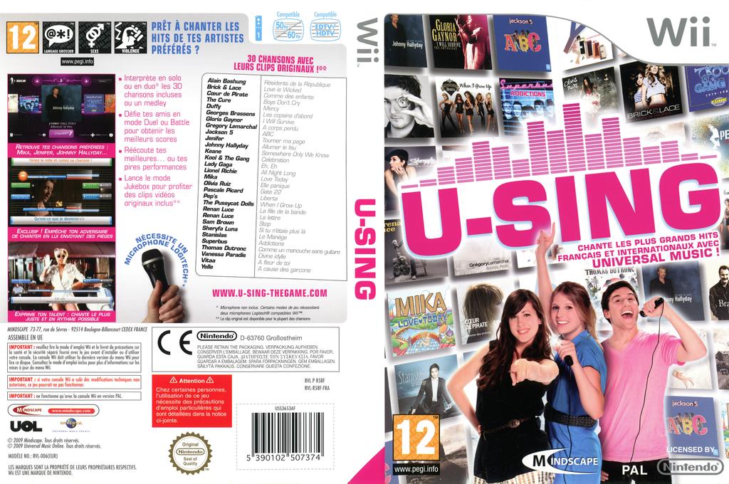 U-Sing Wii coverfullHQ (R58FMR)