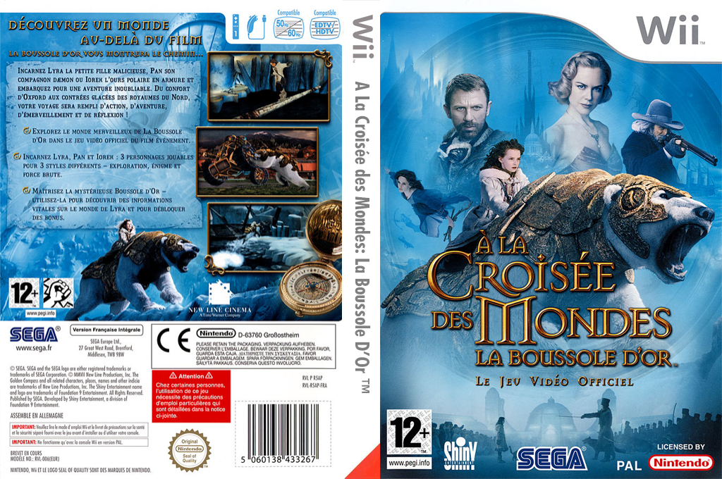 À la Croisée des Mondes:La Boussole d'Or Wii coverfullHQ (R5AP8P)