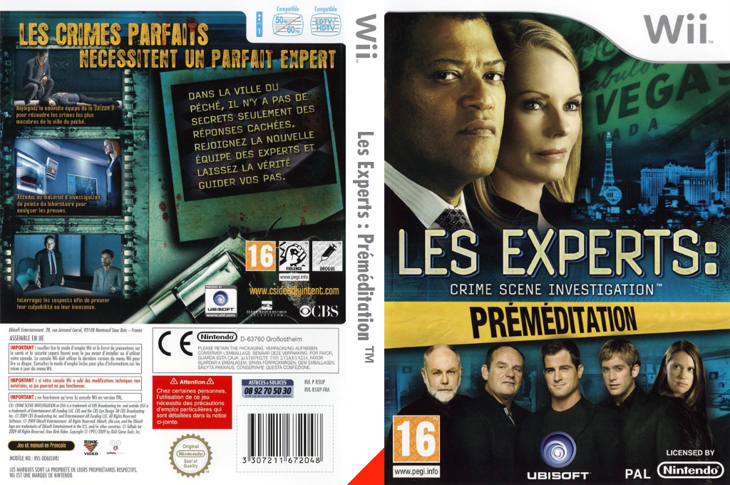 Les Experts: Préméditation Wii coverfullHQ (R5UP41)