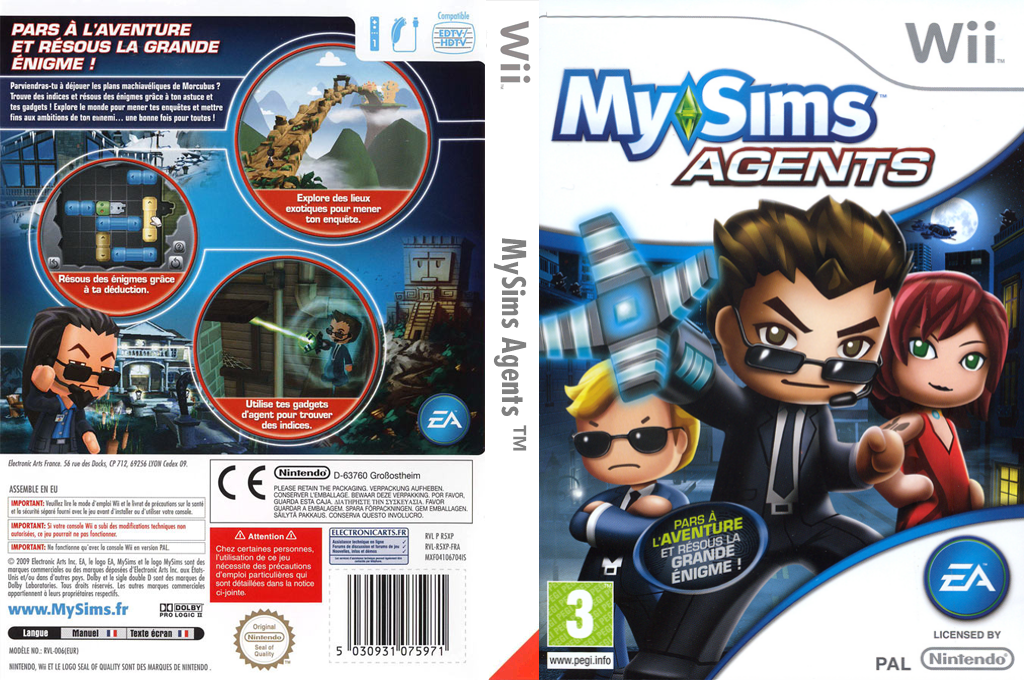 MySims Agents Wii coverfullHQ (R5XP69)