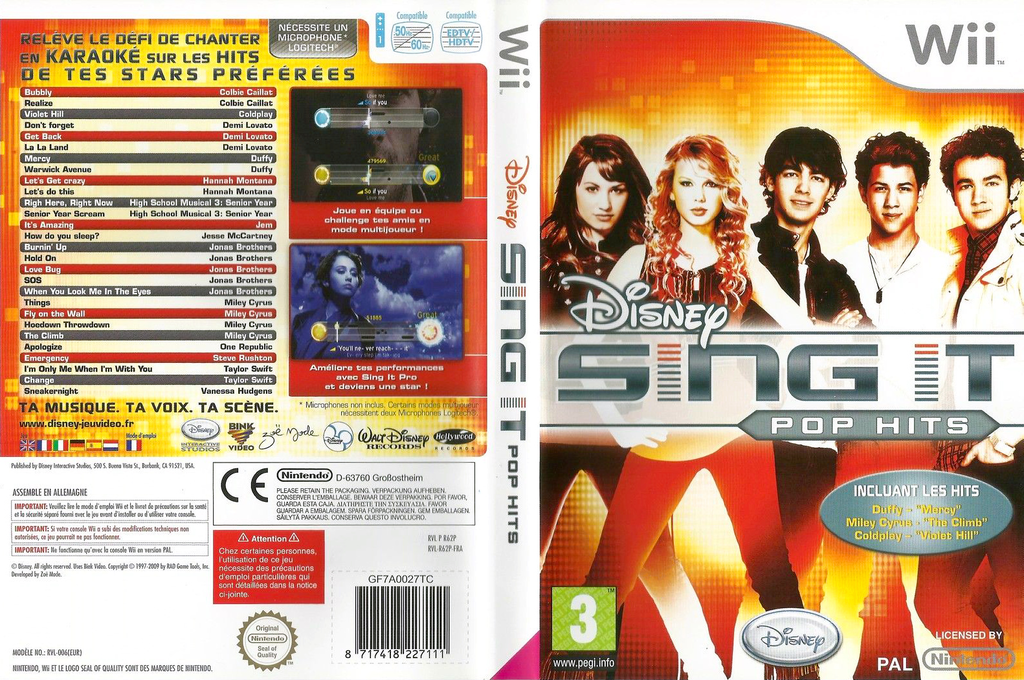 Disney Sing It : Pop Hits Wii coverfullHQ (R62P4Q)