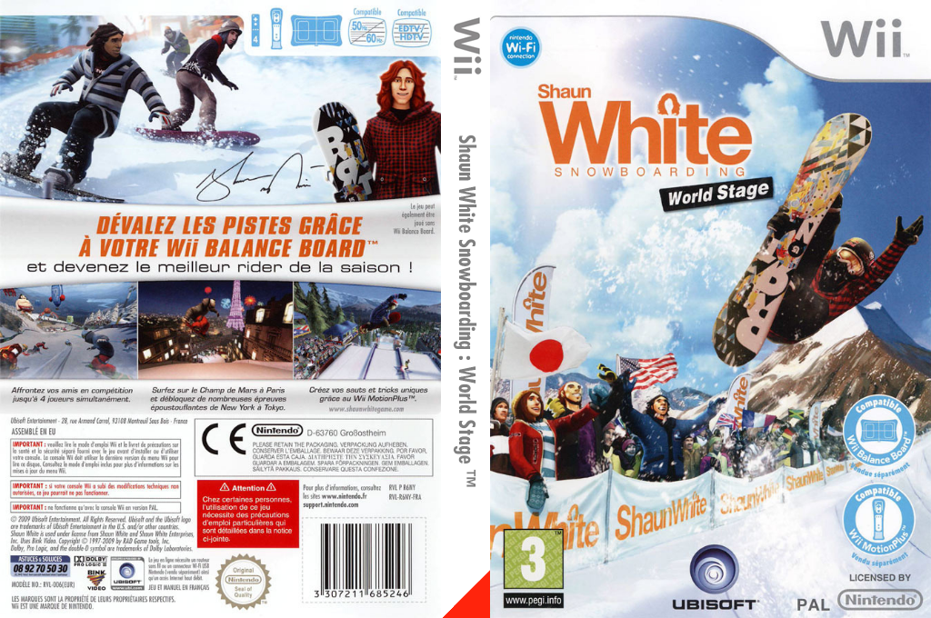 Shaun White Snowboarding : World Stage Wii coverfullHQ (R6NY41)