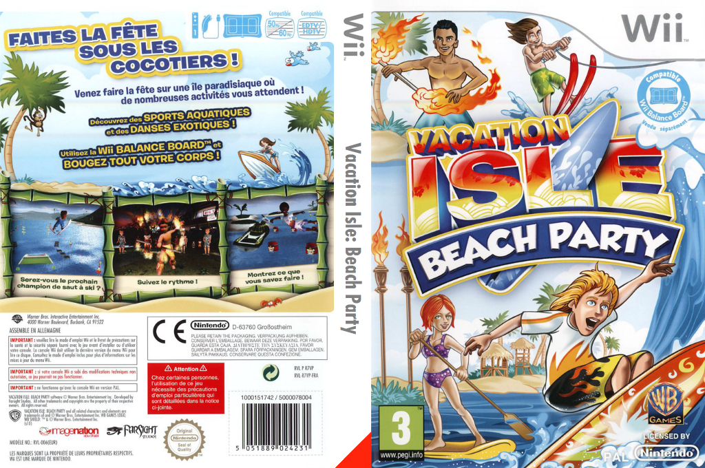 Vacation Isle:Beach Party Wii coverfullHQ (R7VPWR)