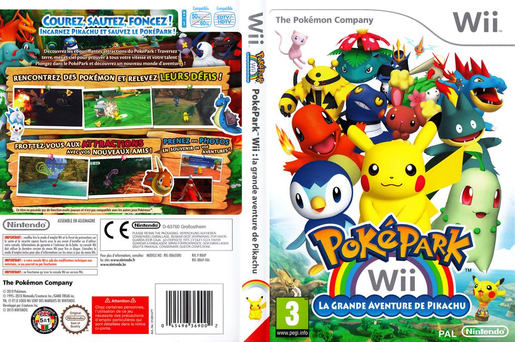 PokéPark Wii:La Grande Aventure de Pikachu Wii coverfullHQ (R8AP01)