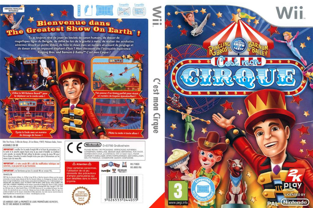 C'est mon Cirque Wii coverfullHQ (R8OX54)