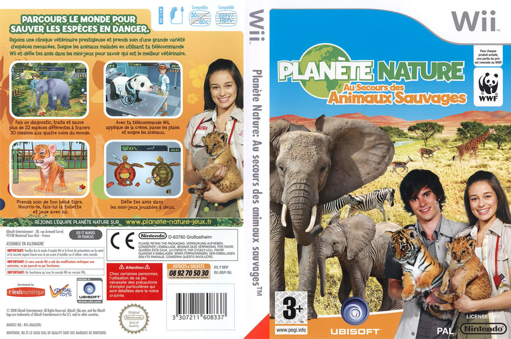 Planète Nature:Au Secours des Animaux Sauvages Wii coverfullHQ (R8VP41)