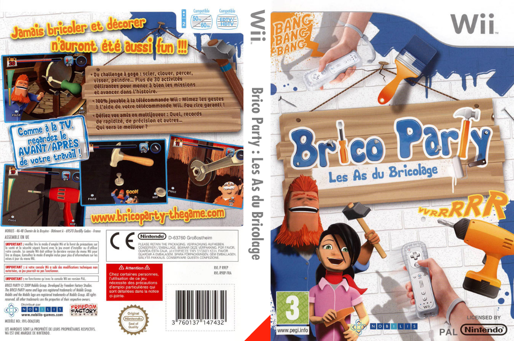 Brico Party: Les As du Bricolage Wii coverfullHQ (R9EPNP)