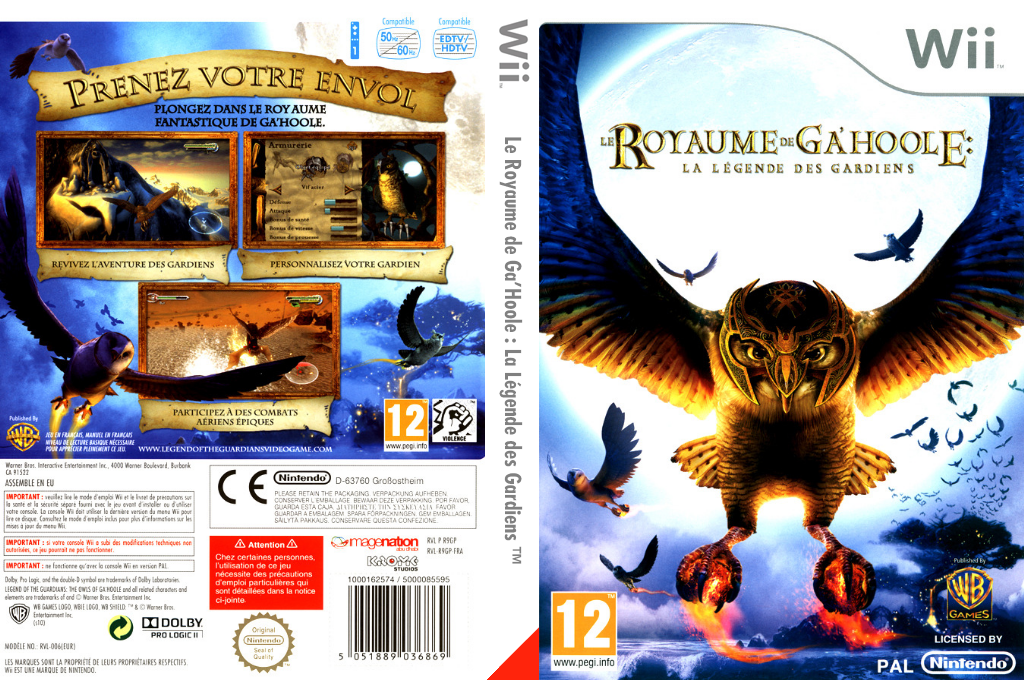 Le Royaume de Ga'Hoole Wii coverfullHQ (R9GPWR)