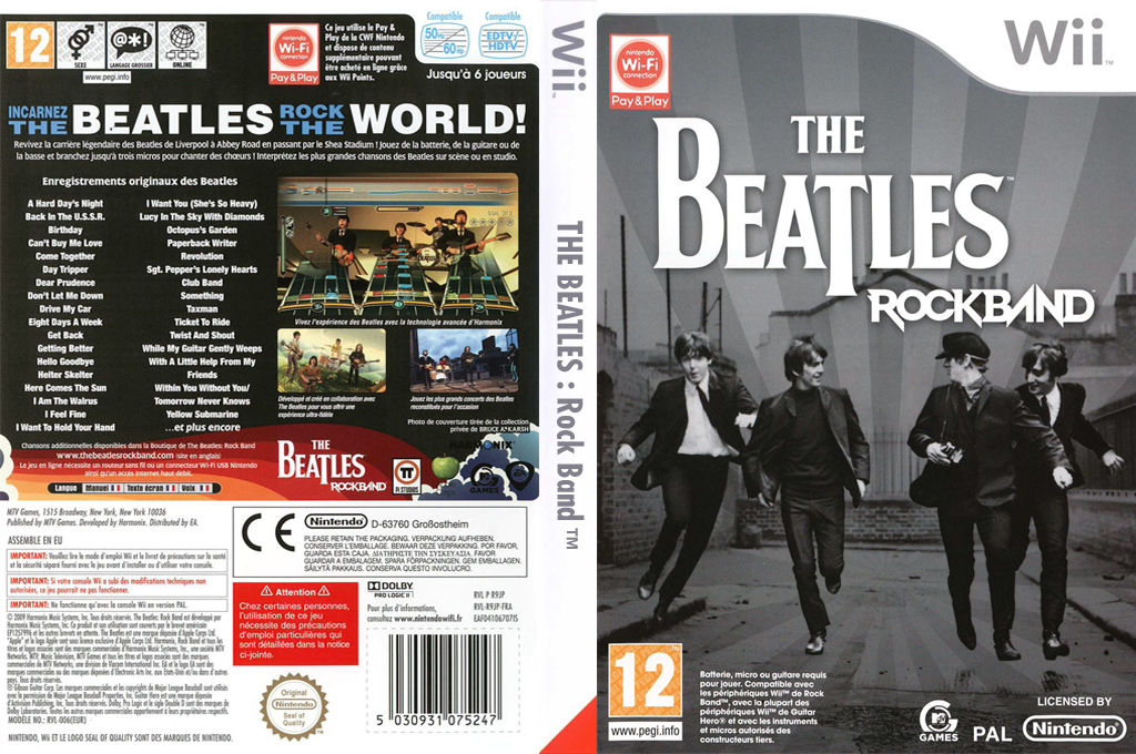 The Beatles : Rock Band Wii coverfullHQ (R9JP69)