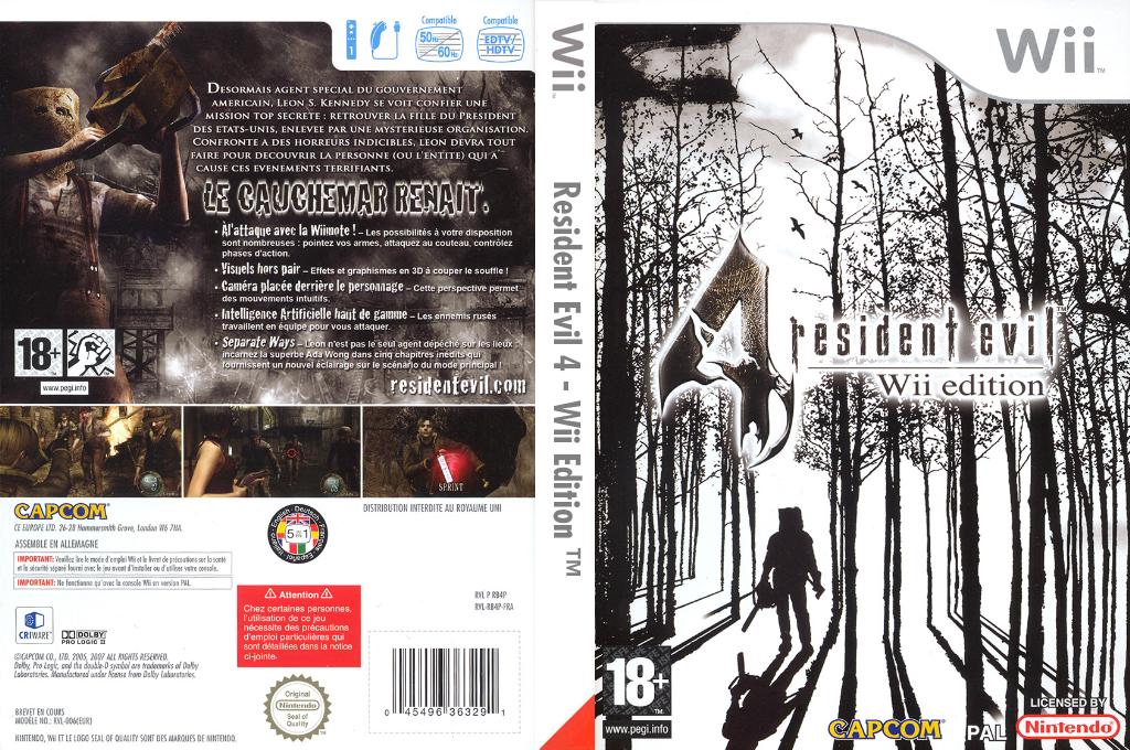 Resident Evil 4:Wii Edition Wii coverfullHQ (RB4P08)