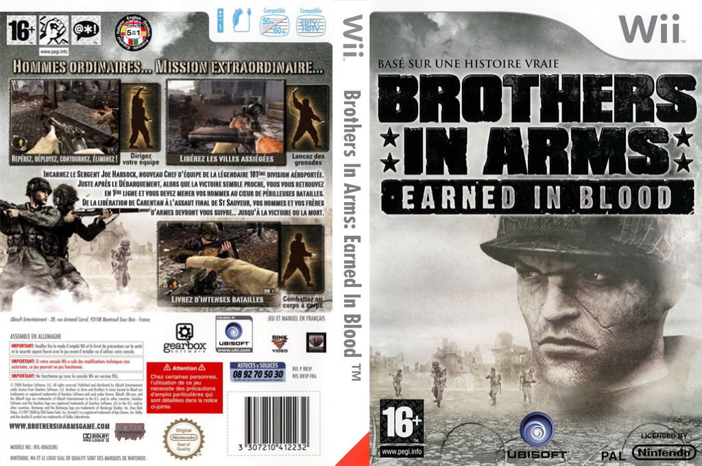 Brothers in Arms : Earned in Blood Wii coverfullHQ (RB5P41)