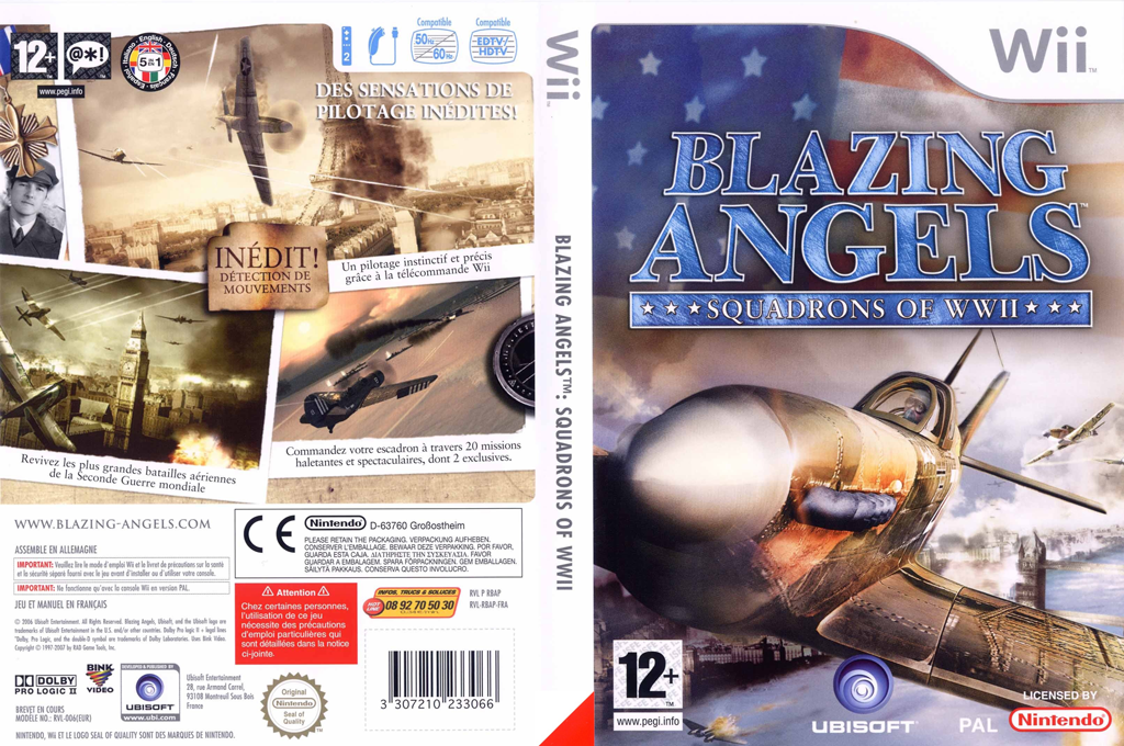 Blazing Angels : Squadrons of WWII Wii coverfullHQ (RBAP41)