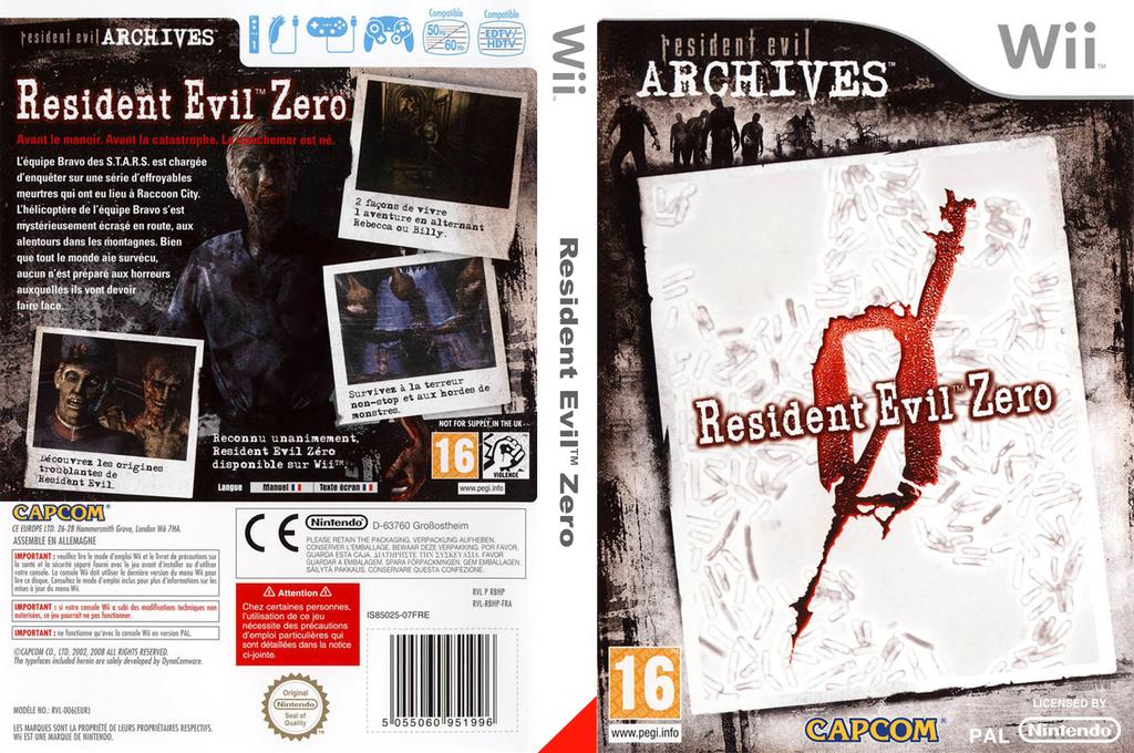 Resident Evil Archives : Resident Evil Zero Wii coverfullHQ (RBHP08)