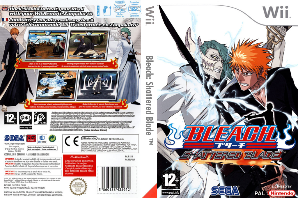 Bleach : Shattered Blade Wii coverfullHQ (RBLP8P)