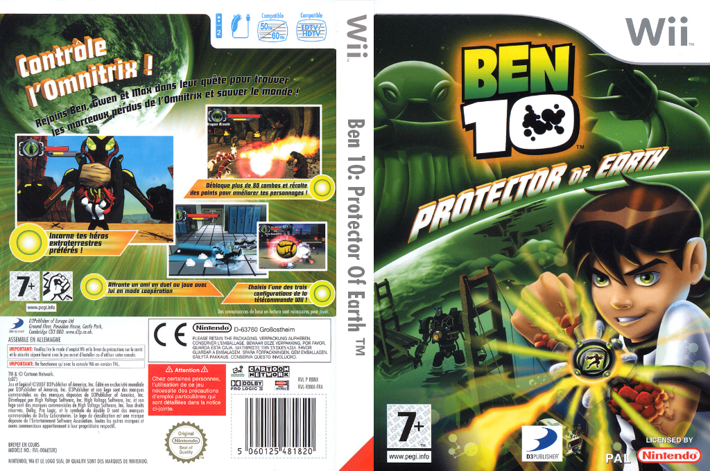 Ben 10 : Protector of Earth Wii coverfullHQ (RBNXG9)