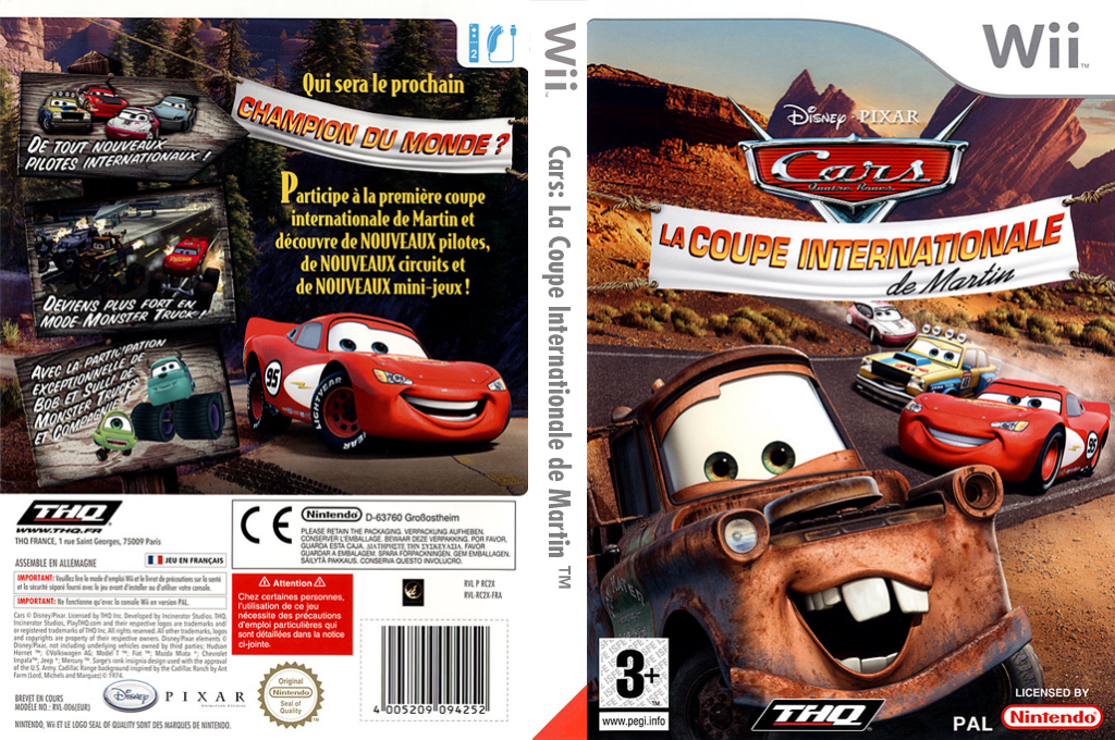 Cars : La Coupe Internationale de Martin Wii coverfullHQ (RC2Y78)
