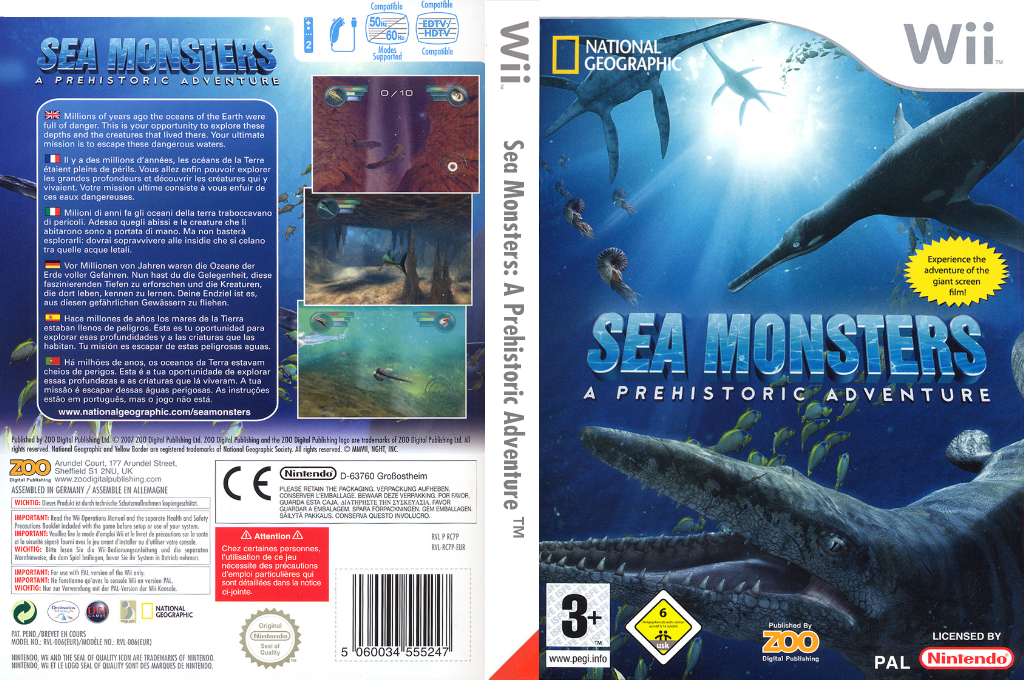 Sea Monsters : A Prehistoric Adventure Wii coverfullHQ (RC7P7J)
