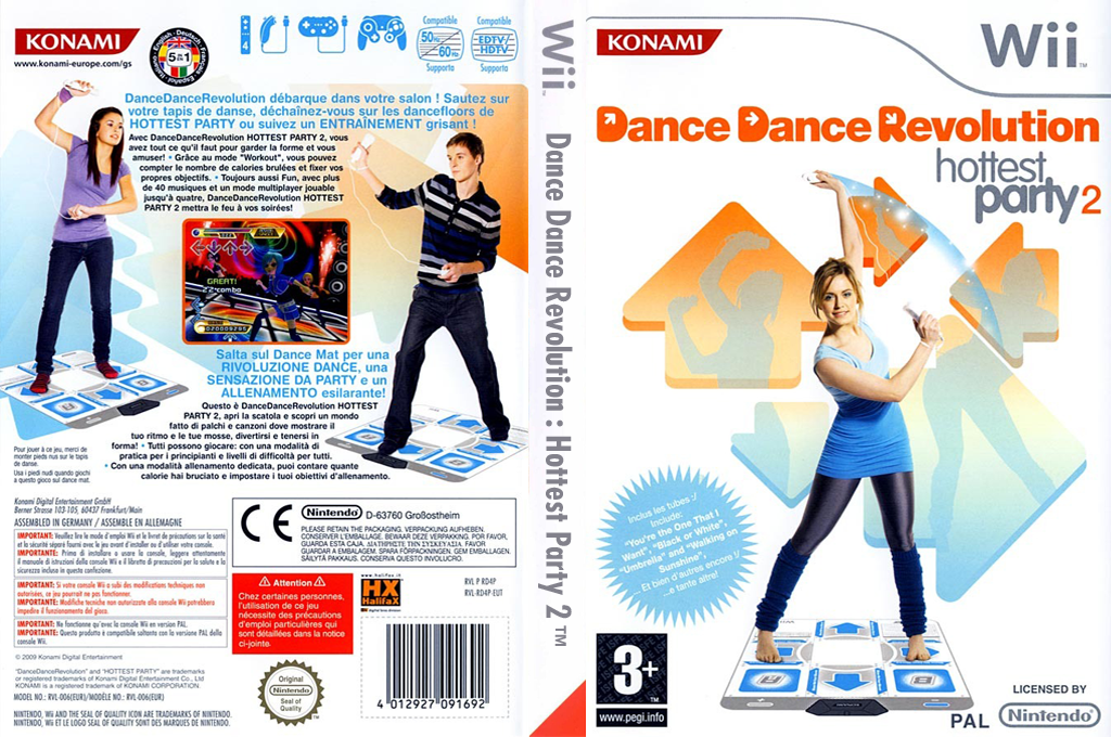Dance Dance Revolution:Hottest Party 2 Wii coverfullHQ (RD4PA4)
