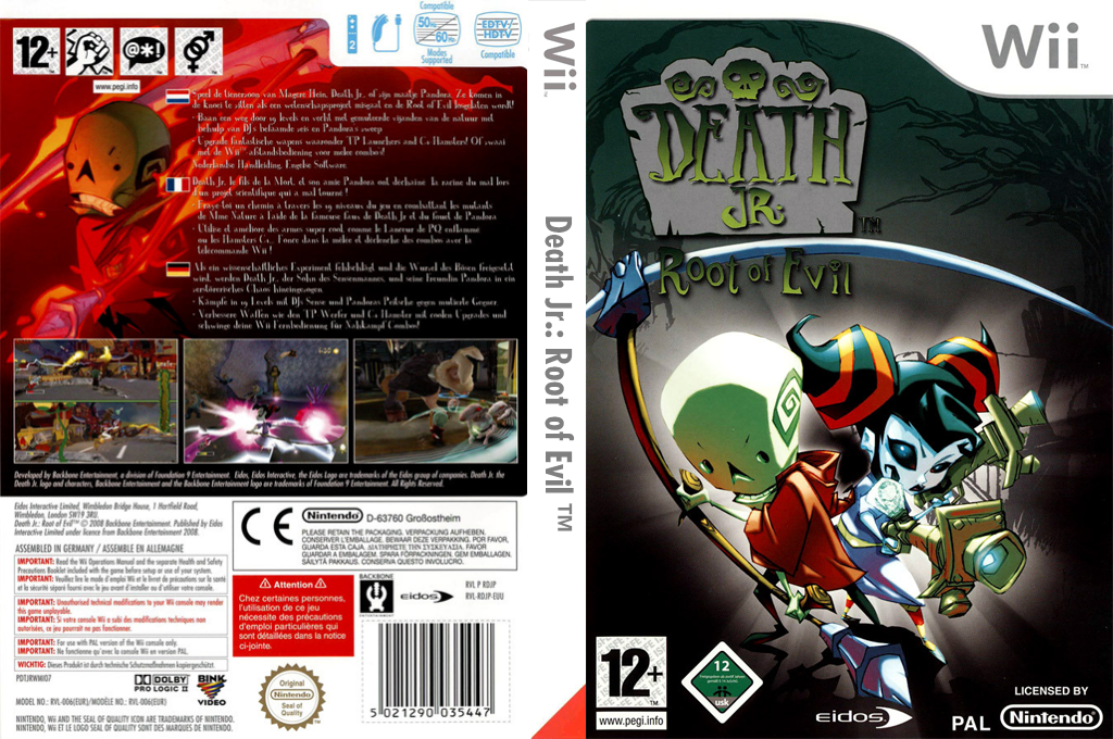 Death Jr. : Root of Evil Wii coverfullHQ (RDJP4F)